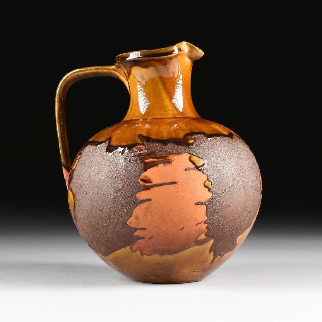 A ROYAL HAEGER LAVA GLAZE CERAMIC PITCHER FROM THE - 2