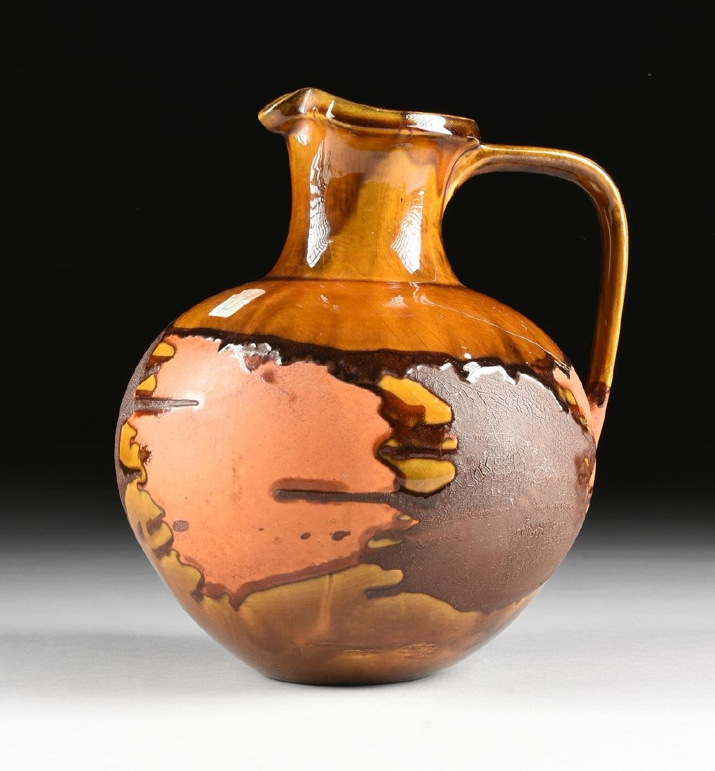 A ROYAL HAEGER LAVA GLAZE CERAMIC PITCHER FROM THE - 3