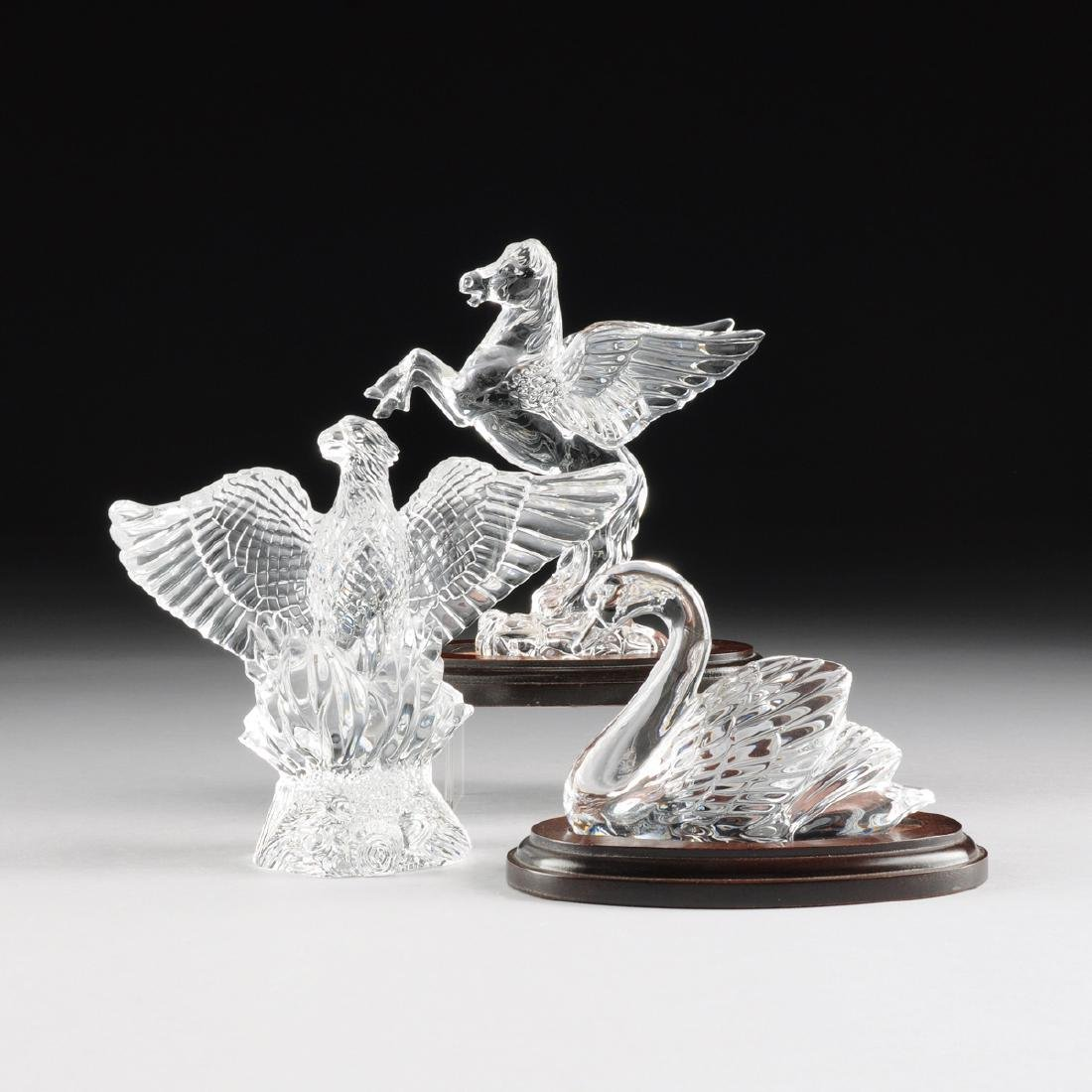 A GROUP OF THREE WATERFORD CRYSTAL FIGURES, FROM THE - 2