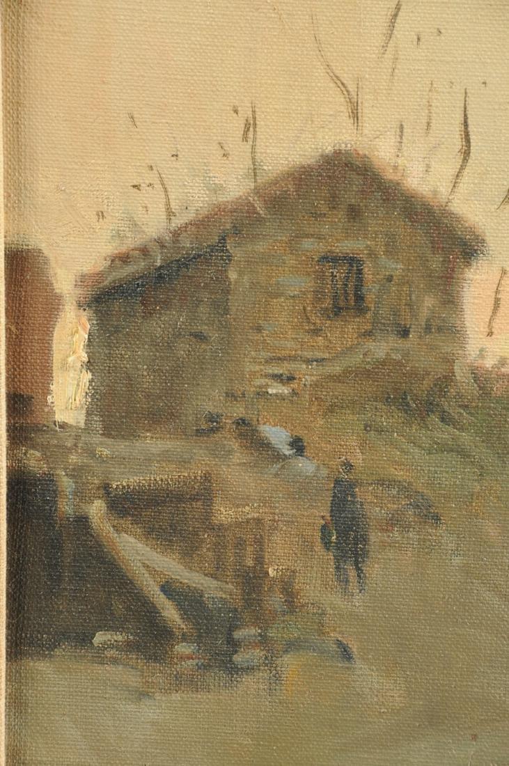 "ITALIAN SCHOOL (20th Century) A PAINTING, ""Paliano - 5"