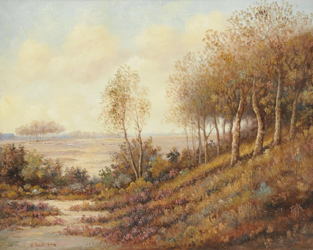 """AMERICAN SCHOOL (20th Century) A PAINTING, """"Landscape,"""""""