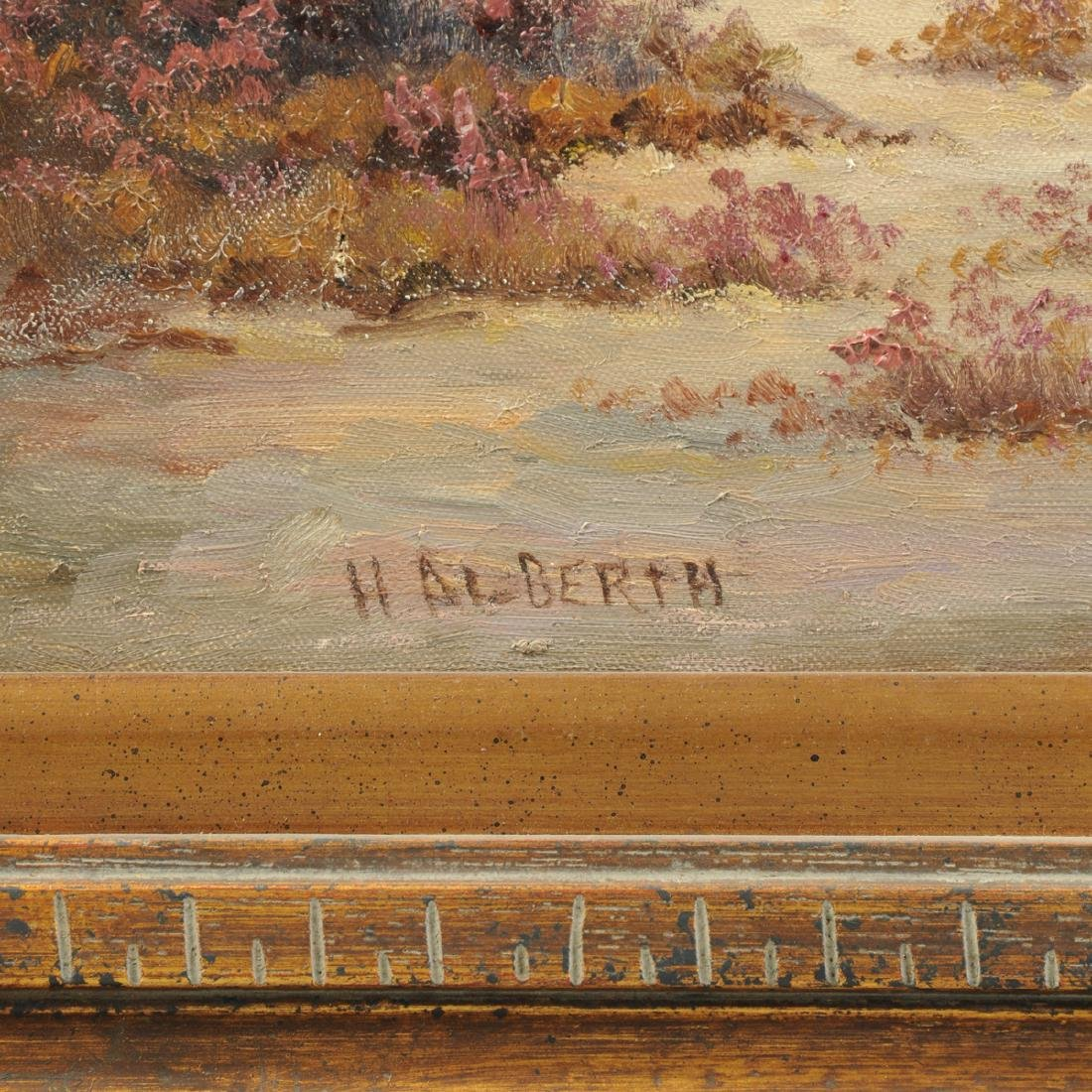 """AMERICAN SCHOOL (20th Century) A PAINTING, """"Landscape,"""" - 3"""