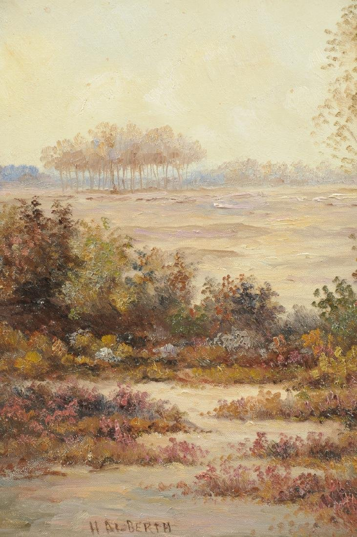 """AMERICAN SCHOOL (20th Century) A PAINTING, """"Landscape,"""" - 5"""