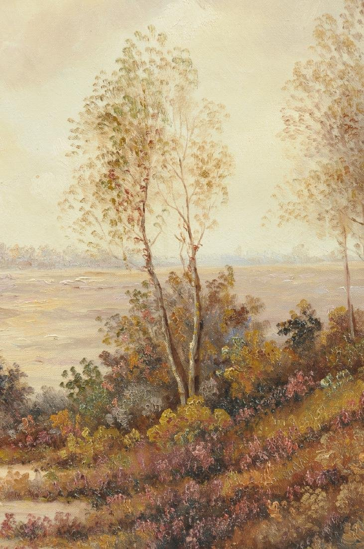 """AMERICAN SCHOOL (20th Century) A PAINTING, """"Landscape,"""" - 6"""