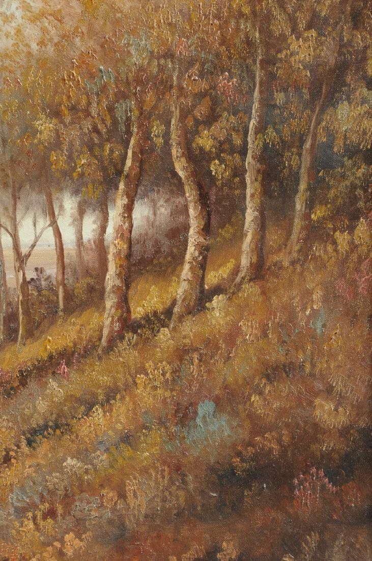"""AMERICAN SCHOOL (20th Century) A PAINTING, """"Landscape,"""" - 7"""