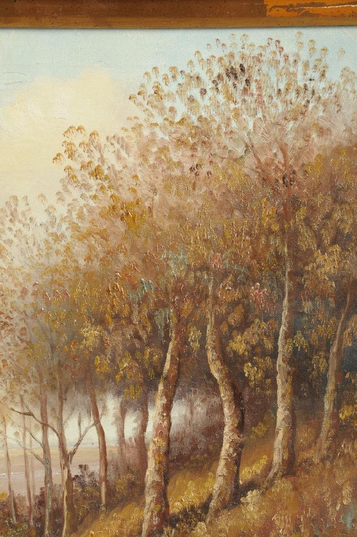"""AMERICAN SCHOOL (20th Century) A PAINTING, """"Landscape,"""" - 8"""