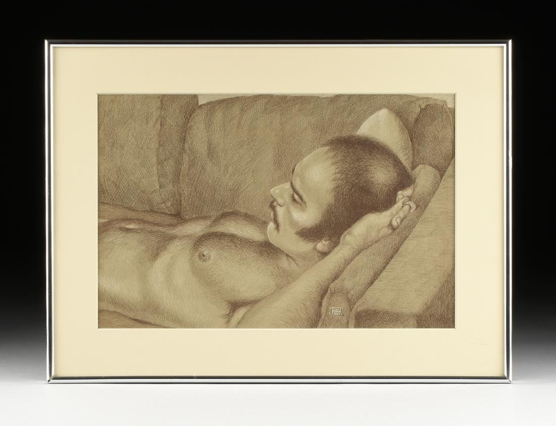 JESSE SUMPTER (American/Texas 1929-2013) A DRAWING, - 2