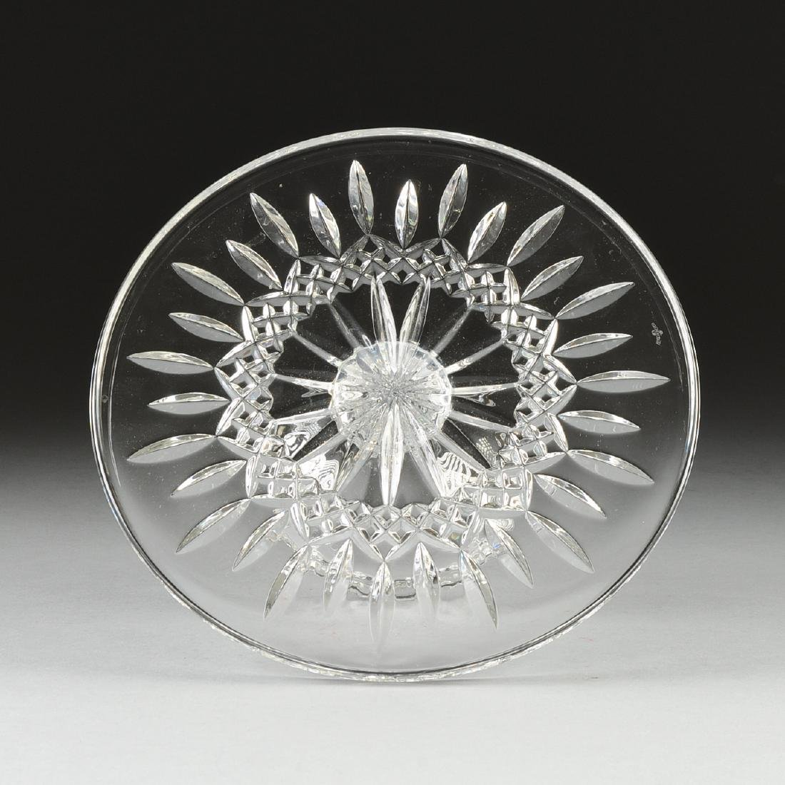 A WATERFORD CUT CRYSTAL ROUND CAKE STAND, IRELAND, LATE - 2