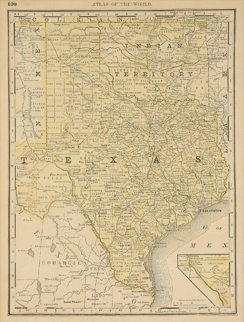 AN VINTAGE MAP, \