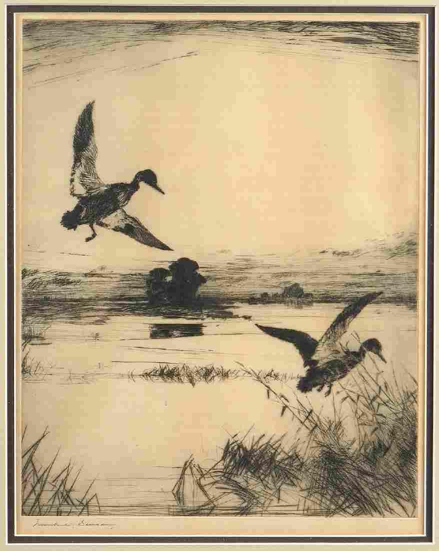 FRANK WESTON BENSON (American 1862-1951) AN ETCHING,