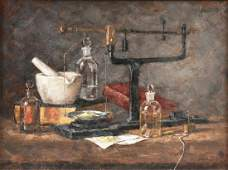 """LAURA ROBB (American b. 1955) A PAINTING, """"Apothecary,"""""""