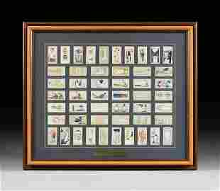 A FRAMED SET OF WILL'S CIGARETTE FIRST AID CARDS,