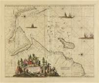 AN ANTIQUE MAP Occidentalior Tractus Indiarum