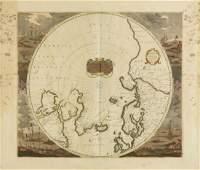 AN ANTIQUE MAP Poli Arctici et Circumiacentium