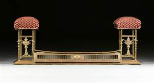 AN ENGLISH NEOCLASSICAL STYLE GILT BRONZE AND BRASS