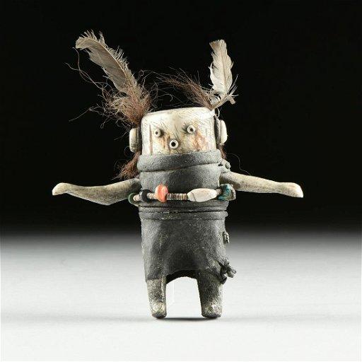 A Native American Carved Bone Mudhead Kachina Doll Dec 08 2019 Houston Auction Company In Tx