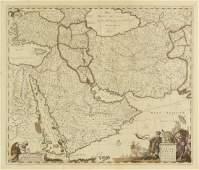 AN ANTIQUE MAP Nova Persi Armeni Natolia et