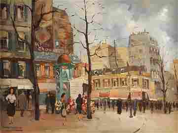 "MAX MOREAU (Belgian 1902-1992) A PAINTING, ""Parisian"