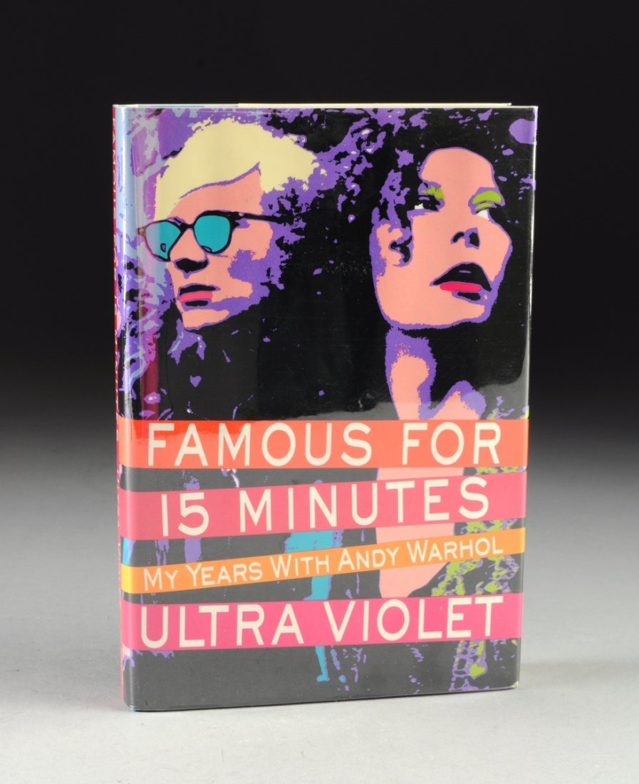 """ULTRA VIOLET (b. 1935) A BOOK, """"Famous For 15 Minutes:"""