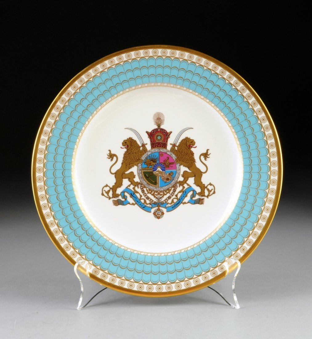 A SPODE COMMEMORATIVE BONE CHINA IMPERIAL PLATE OF