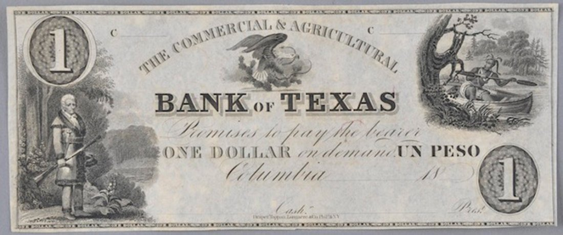 COMMERCIAL & AGRICULTURAL BANK OF TEXAS $1, COLUMBIA,