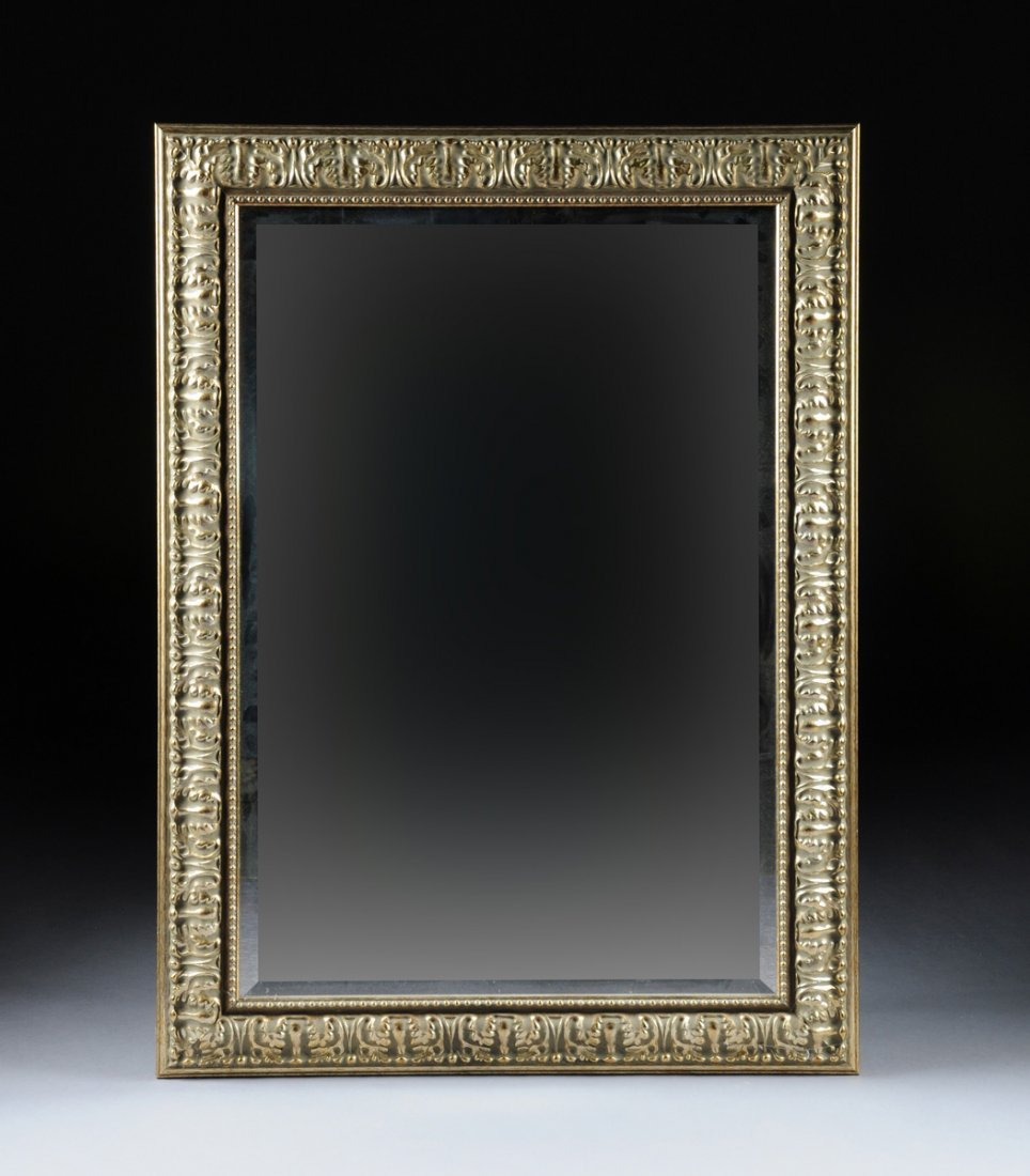 A GILT FRAMED BEVELED MIRROR, LATE 20TH CENTURY,