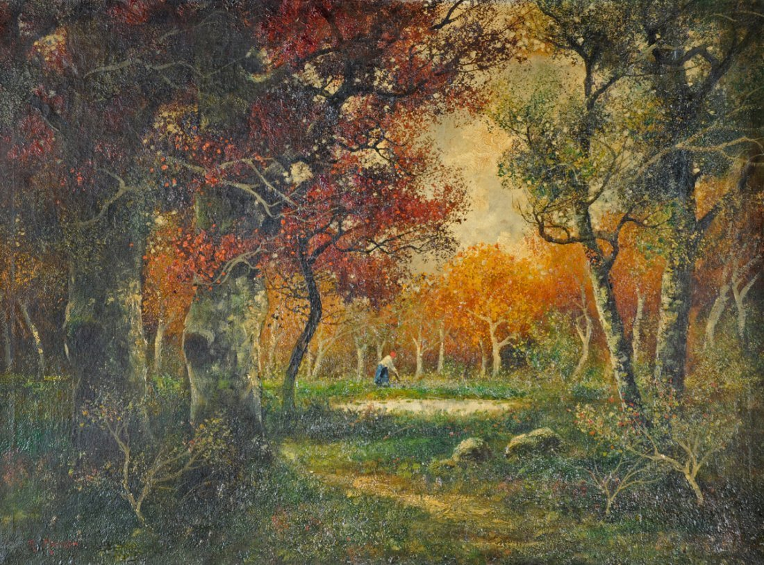 R. MERIOT  (FRENCH SCHOOL 19th CENTURY) A PAINTING,