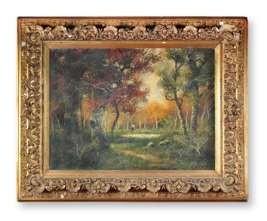R. MERIOT  (FRENCH SCHOOL 19th CENTURY) A PAINTING, - 2