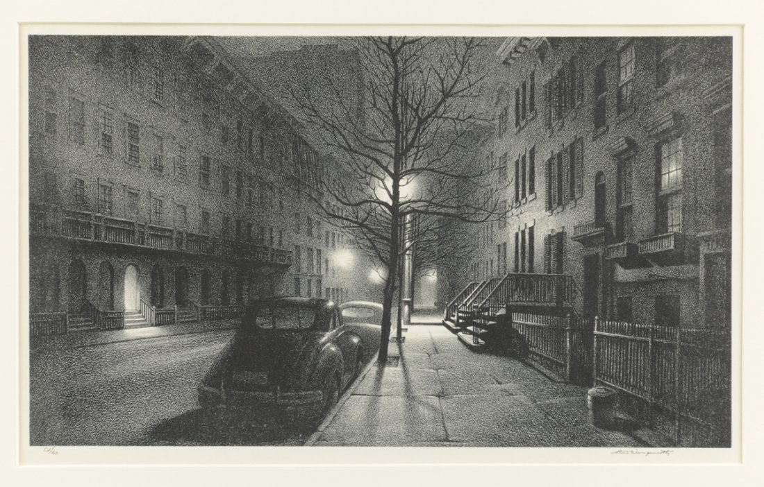 STOW WENGENROTH (American 1906-1978) A LITHOGRAPH,