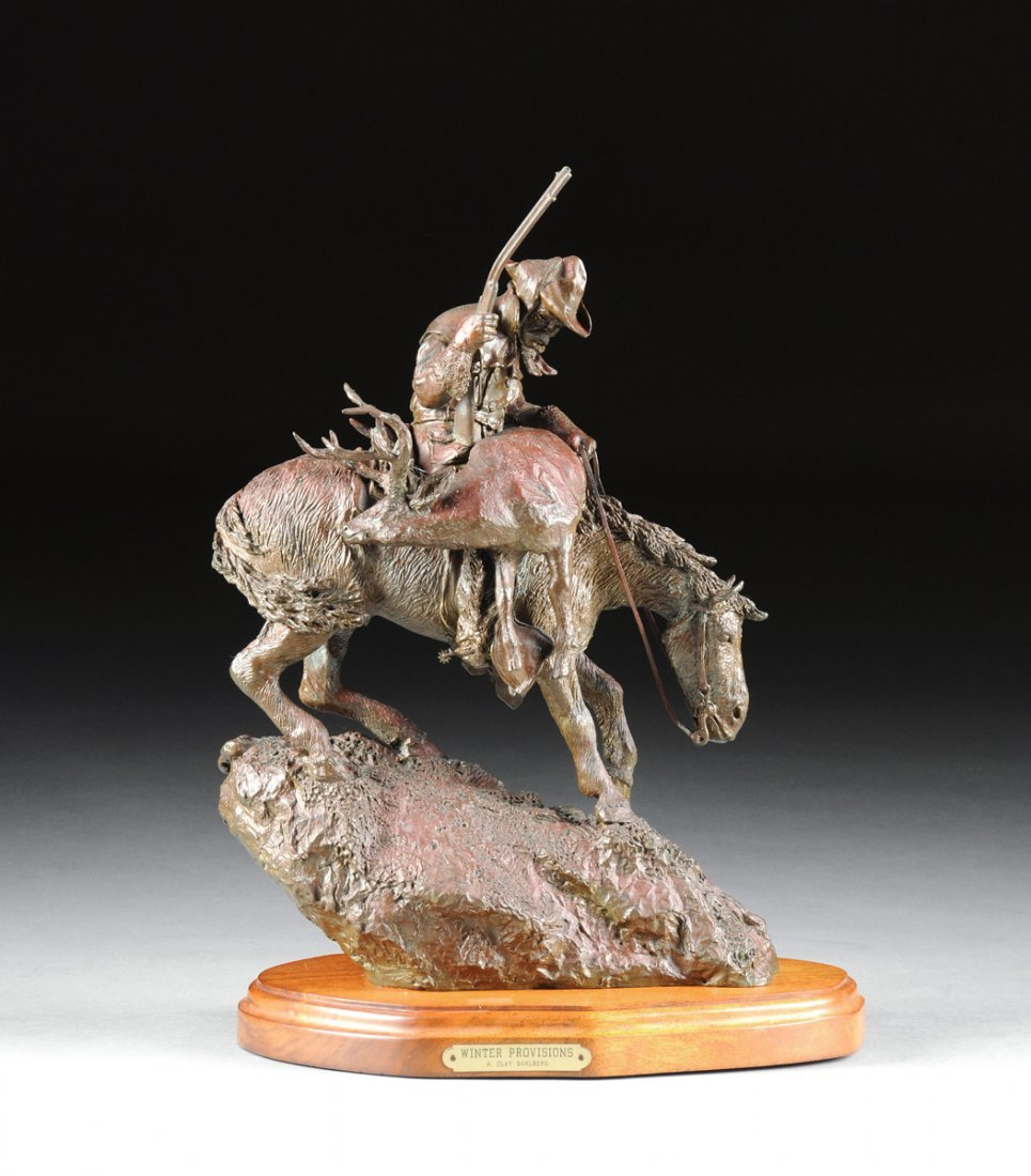 H. CLAY DAHLBERG ( American 1946) A PATINATED BRONZE