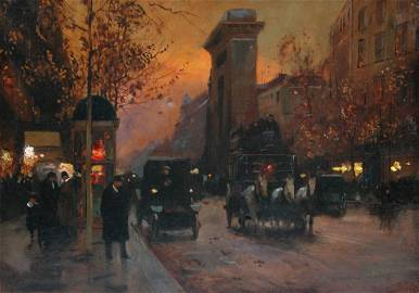 """DOUARD CORTS ( French 1882-1969) A PAINTING, """"Paris S"""