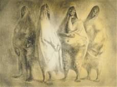 FRANCISCO ZÚÑIGA (Mexican 1912-1998) A LITHOGRAPH,