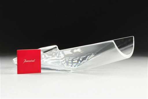 A Baccarat Crystal Diva Vase 20th Century