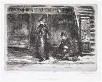 JOHN SLOAN American 18711951 AN ETCHING Girl and
