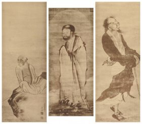 A Group Of Three Matted Meiji Period Japanese Woodblock