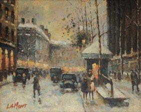 "French School (21st Century) A Painting, ""paris Street"
