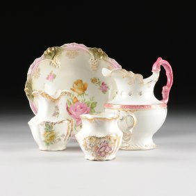 An Assembled Four Piece Group Of Rococo Revival Style