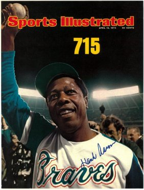 A Hank Aaron Autographed Sports Illustrated Cover,