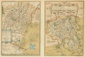 Abraham Ortelius (flemish 1527-1598) A Double Page