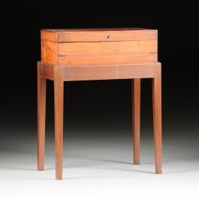 A Victorian Mahogany Portable Writing Box On Stand,