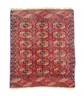 A Vintage Persian Red Field Prayer Rug,