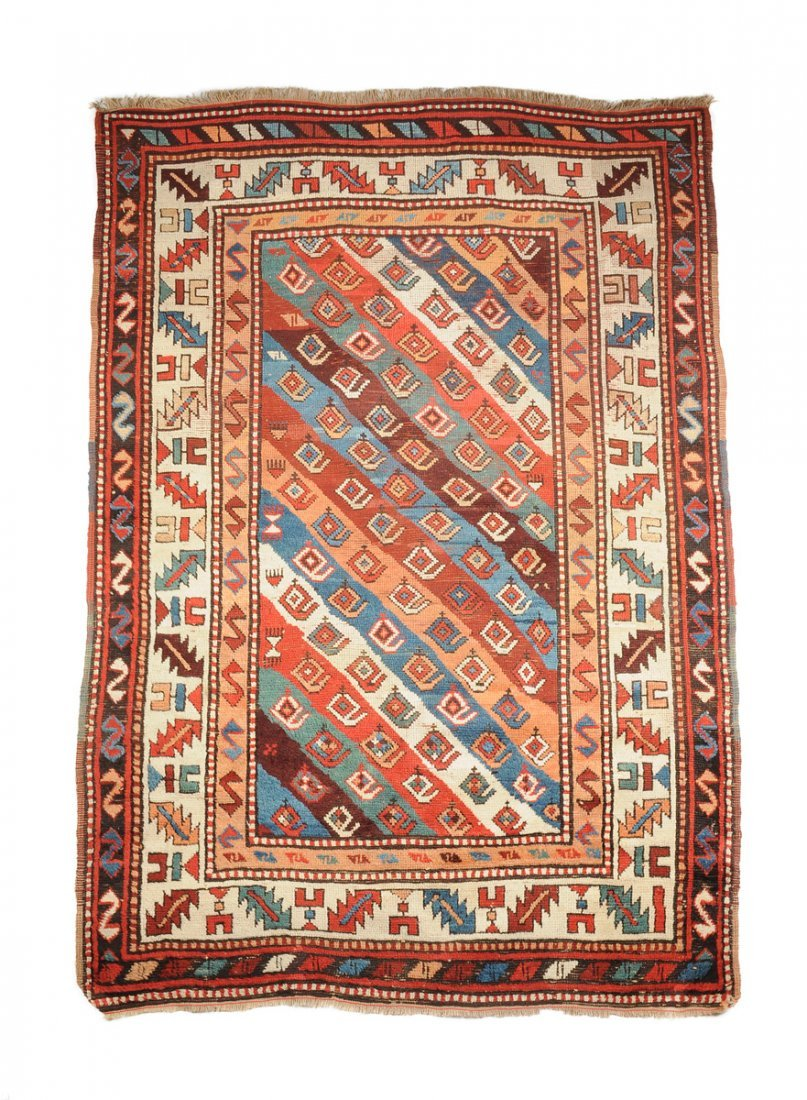 A SEMI ANTIQUE PERSIAN BRICK RED FIELD PRAYER RUG,