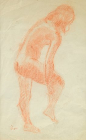 "After Edgar Degas (french 1834-1917) A Drawing, ""study"