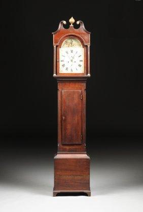 An Antique English Provincial Mahogany Longcase Clock,