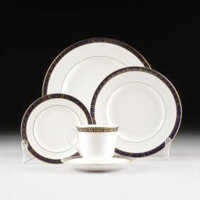 A Fifty-eight Piece Royal Worcester Parcel Gilt And