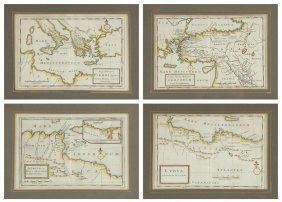 Herman Moll (british 1654-1732) Five Engraved Maps From