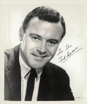 "Two Jack Lemmon Autographed And Inscribed 8"" X 10"""