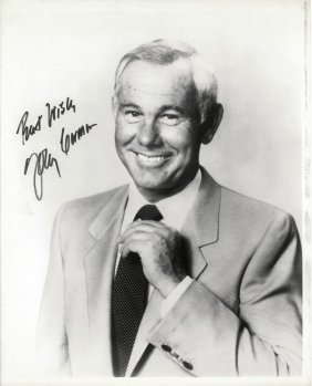 "A Johnny Carson Autographed And Inscribed 8"" X 10"""
