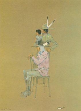 Jerome Richard Tiger (american 1941-1967) A Print,