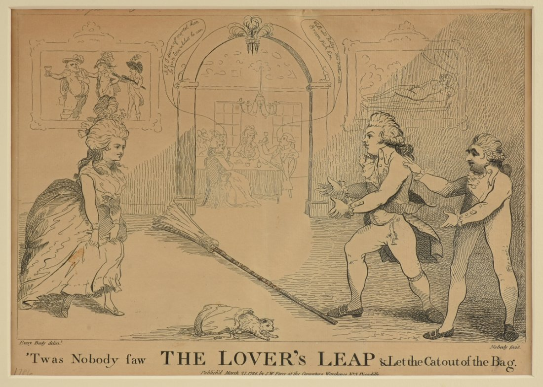 "A LITHOGRAPH, ""The Lovers Leap,"" PUBLISHED BY S. W."